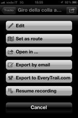 Track Options